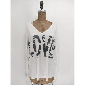 Go Couture Love Knit Dolman Sweater Ivory Camo NEW